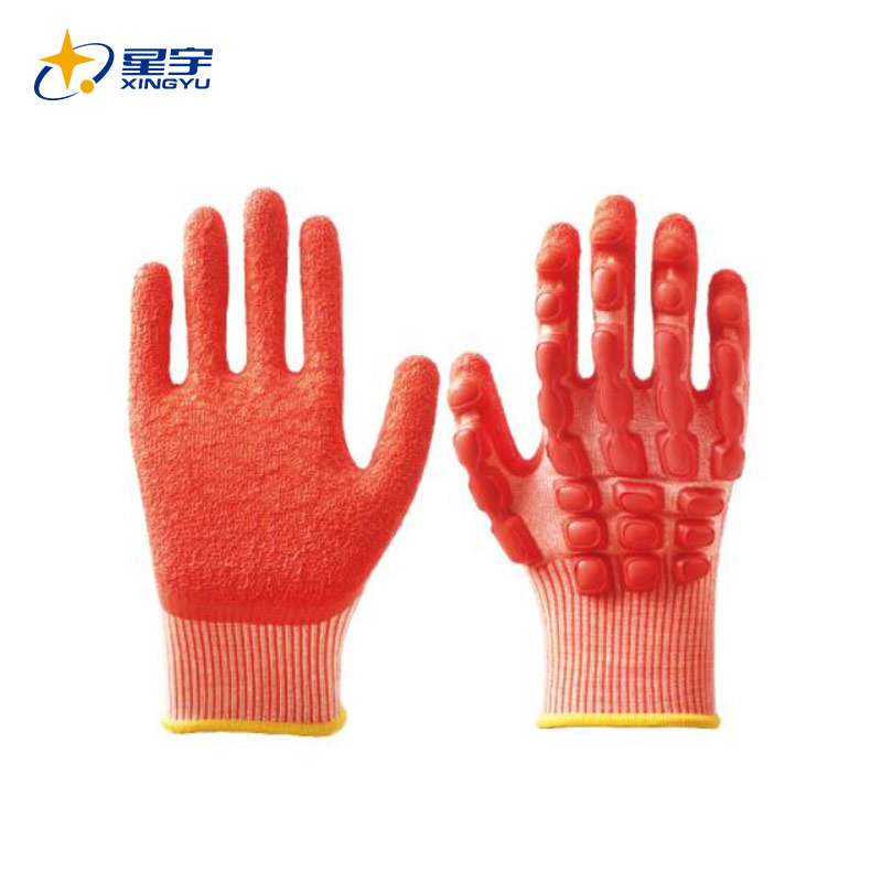 L6801防割防撞乳胶皱手套