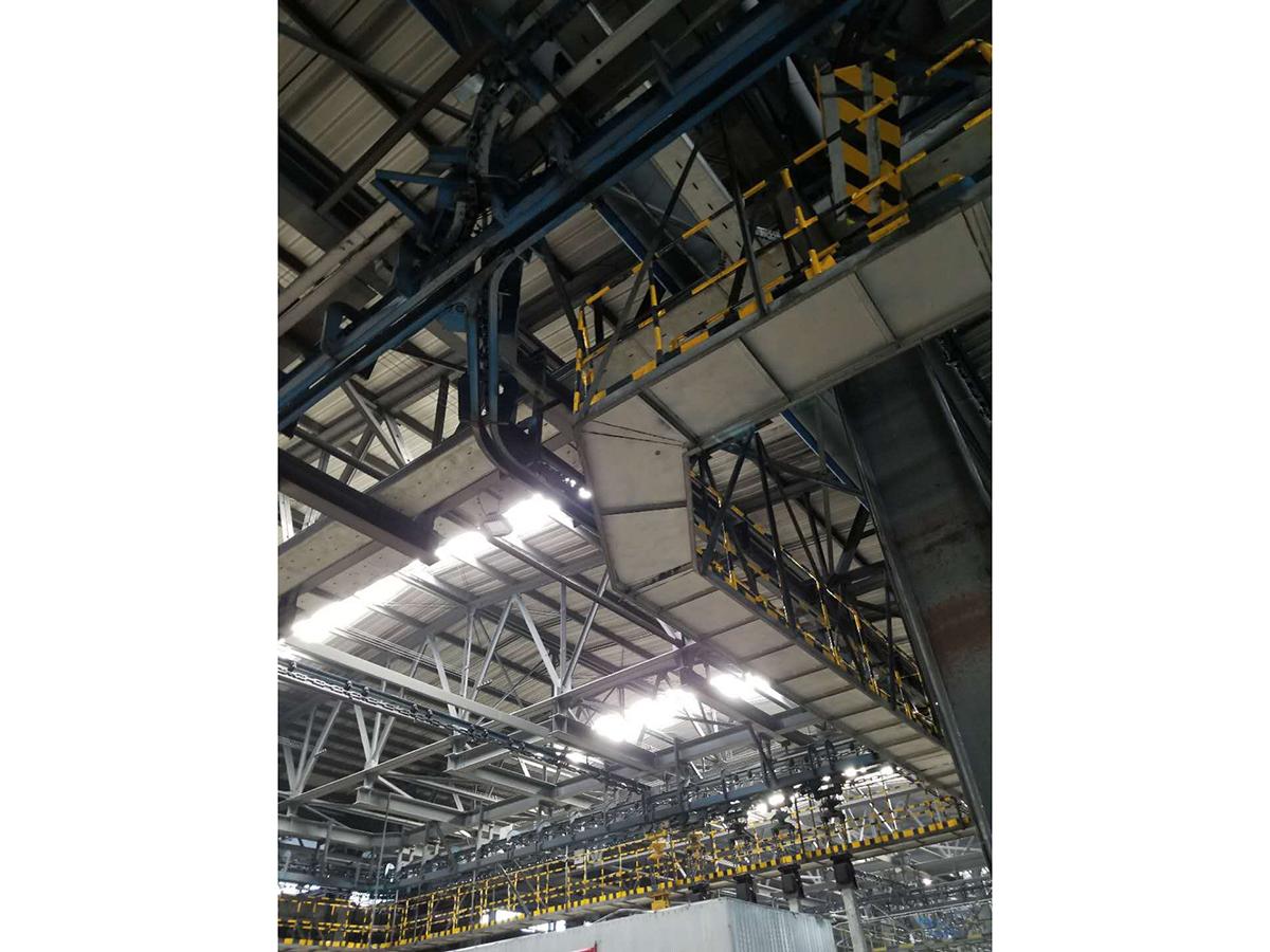 鋁廠陽極炭塊輸送線