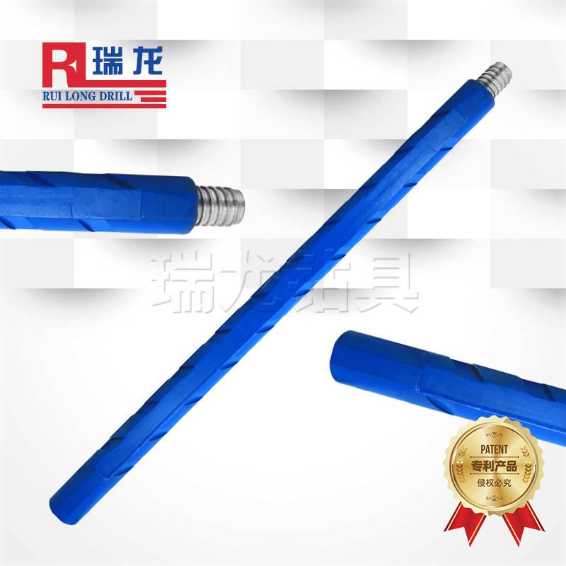φ63.5重型三棱刻槽钻杆 异型多棱刻槽推力排渣钻杆——瑞龙钻具