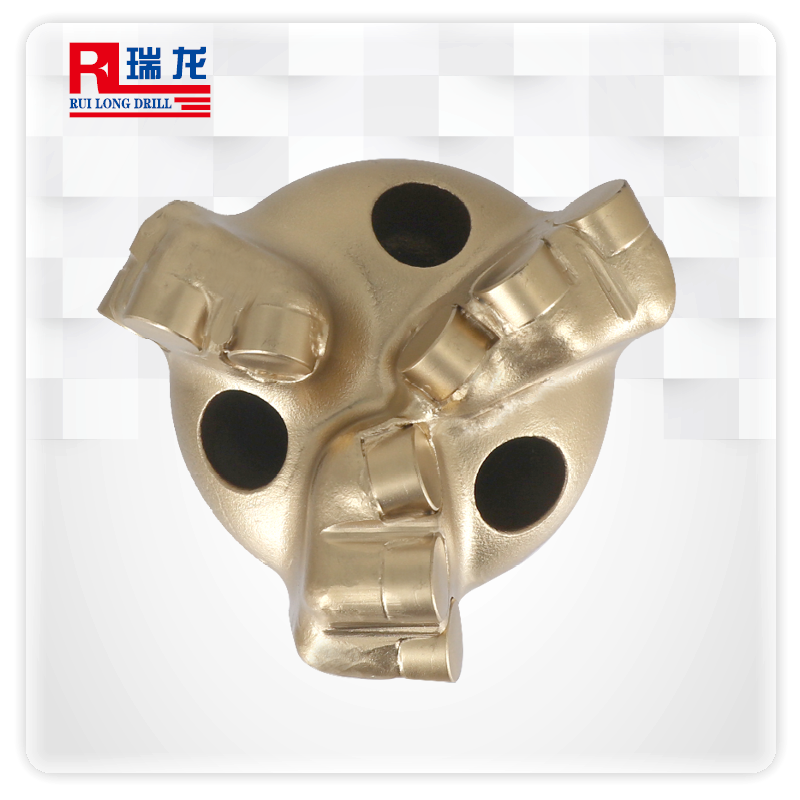94-N53-5.08三翼四翼金刚石复合片钻头 PDC无芯弧角钻头