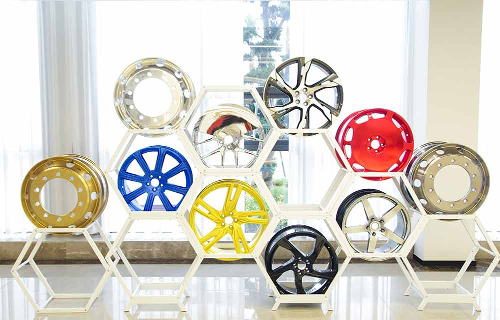 铝合金轮毂展示区