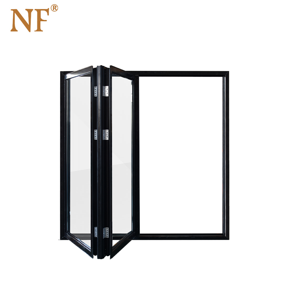 左右黑色折疊窗2扇