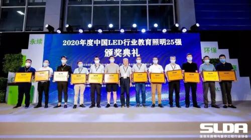 中國教育照明25強企業榜,三雄極光實至名歸!