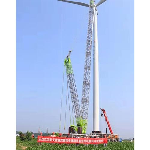 德州风电场吊装照片2