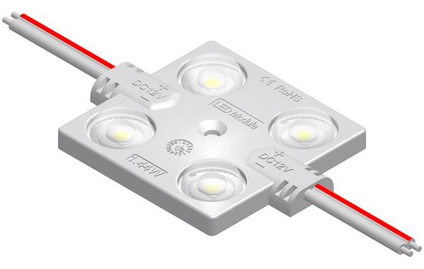 MFW149A1四灯方形1.32W 2835带透镜恒压注塑模组