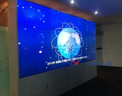 四川成都九州北斗科技公司3*4液晶拼接大屏幕展示墻項目