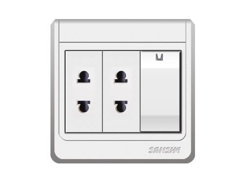 S-A6.0 單(雙)控開關二二極扁圓插座