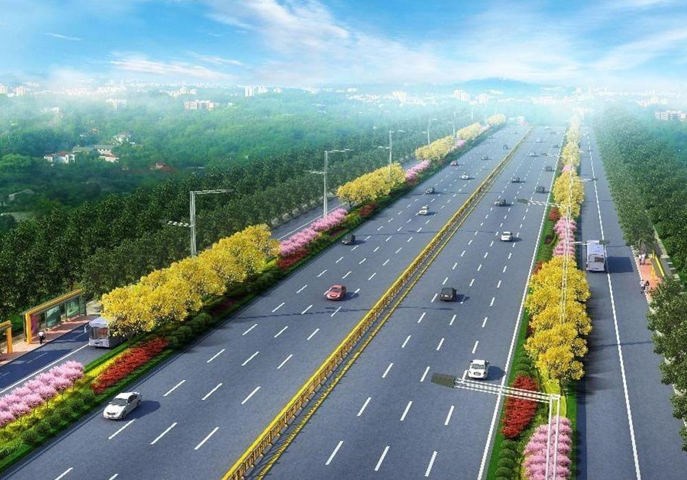 松滋市洈水旅游快速通道拖柴土路、太平橋路、白云路及主線(K19+694-K35+871)綠化工程