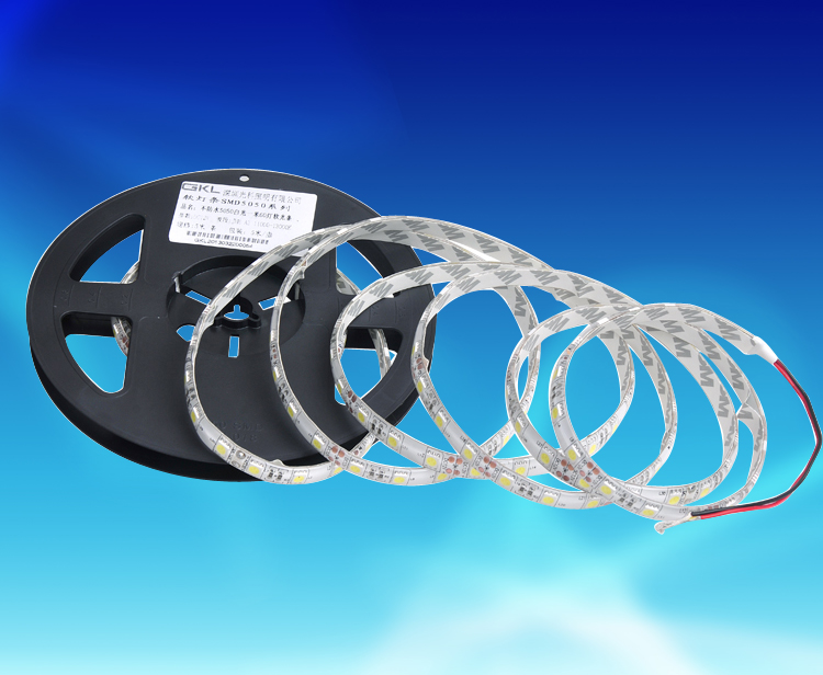FPW712A,10*5000mm每米60粒5050貼片表面滴膠防水燈帶DC12V