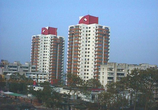 已建成的职工高层住宅