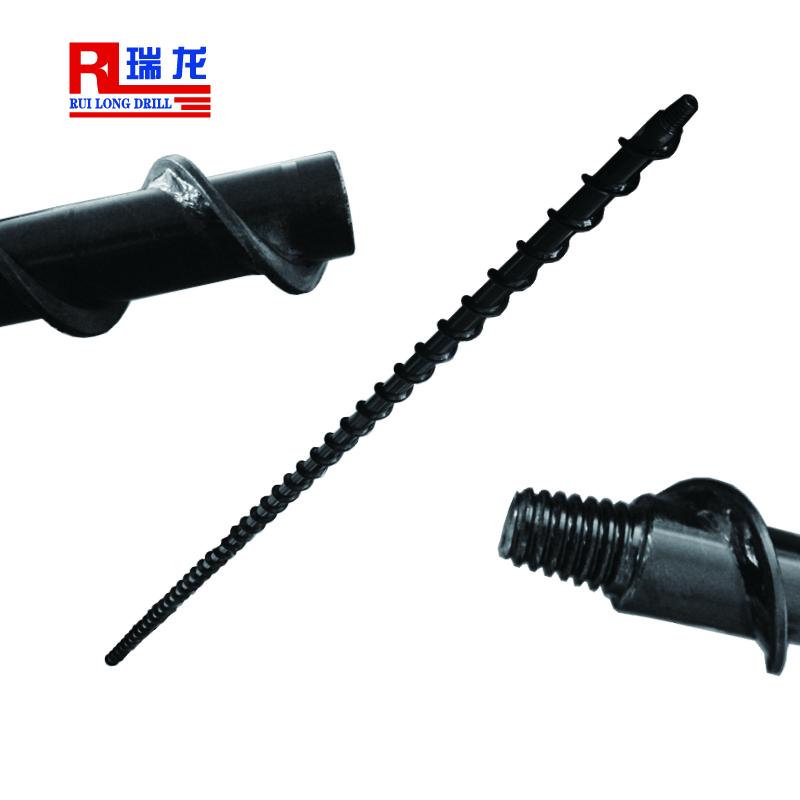 Φ52-2000mm地质螺旋钻杆 肋骨钻杆 刻槽钻杆 瑞龙钻具