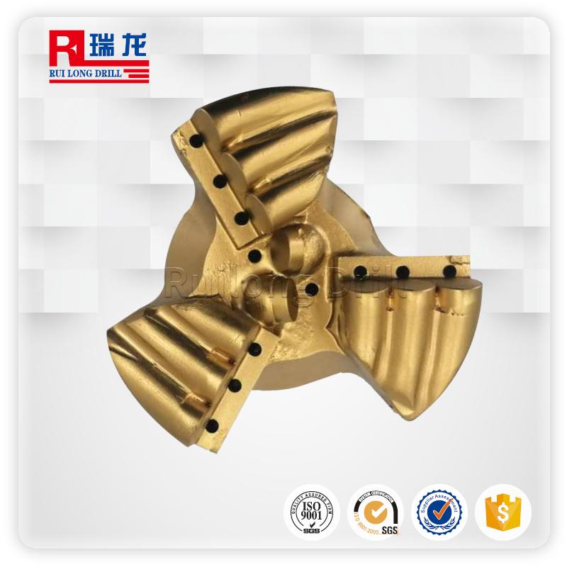 φ113-N60-5.08三翼壓風降溫排渣鉆頭——瑞龍鉆具