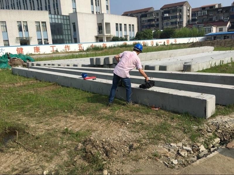 常州市北實驗中學混凝方樁鋼筋配置、構件尺寸
