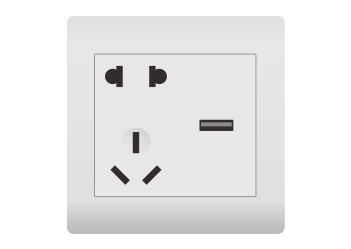 二三插+USB充電接口(1A)