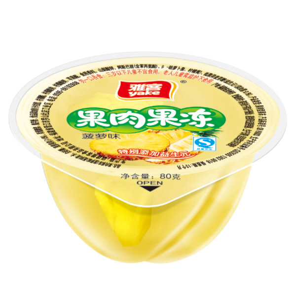 80g果肉果冻(益生元)菠萝