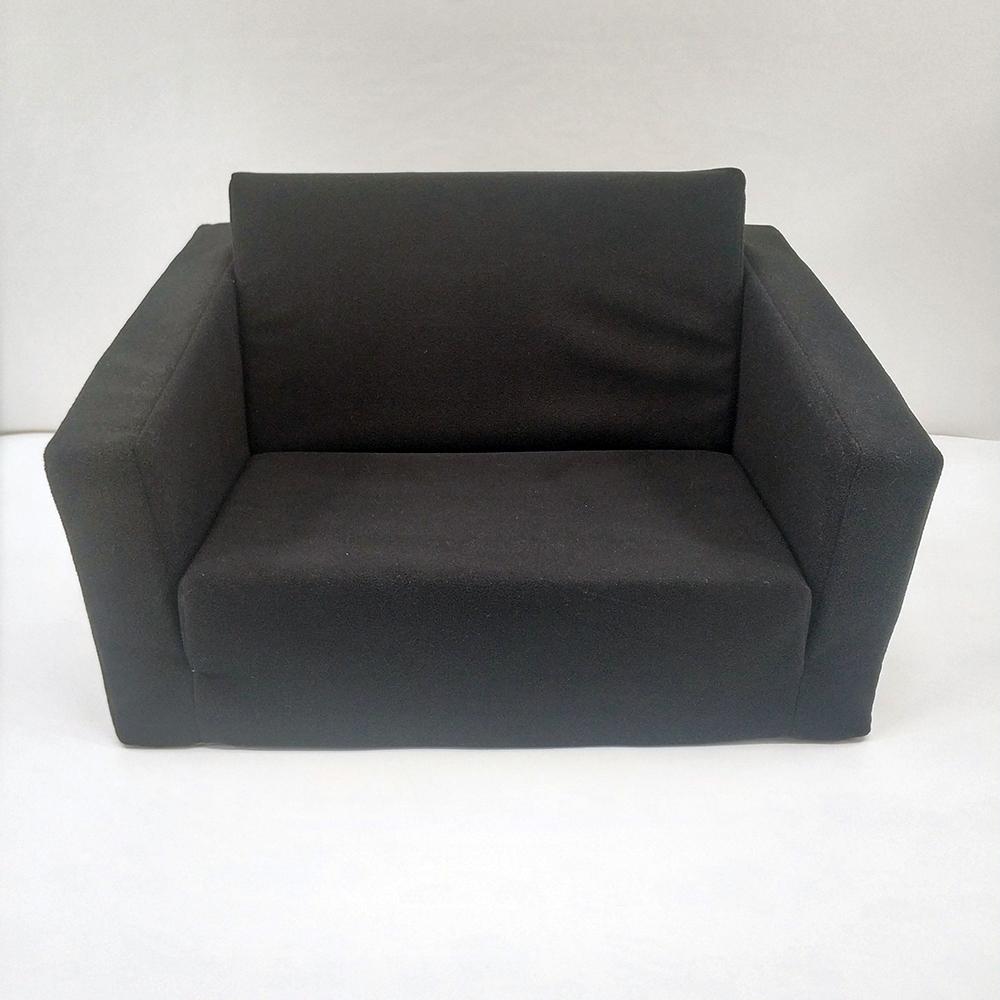 2 in 1 Kids Folding Foam Sofa Bed Flip Open Lazy Sofa Backrest Chair Luxury Velvet Foldable Children Sofa Bed