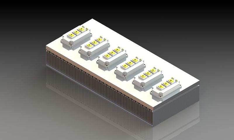 鋁型材密齒散熱器