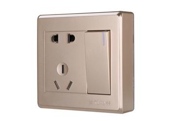 一位單控大板二、三極插座