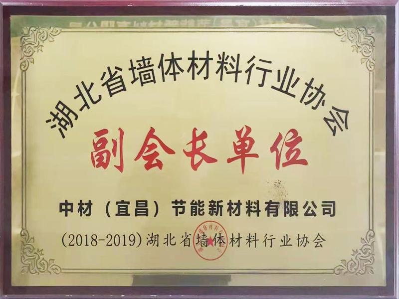2018-2019湖北省墻體材料行業協會-副會長單位