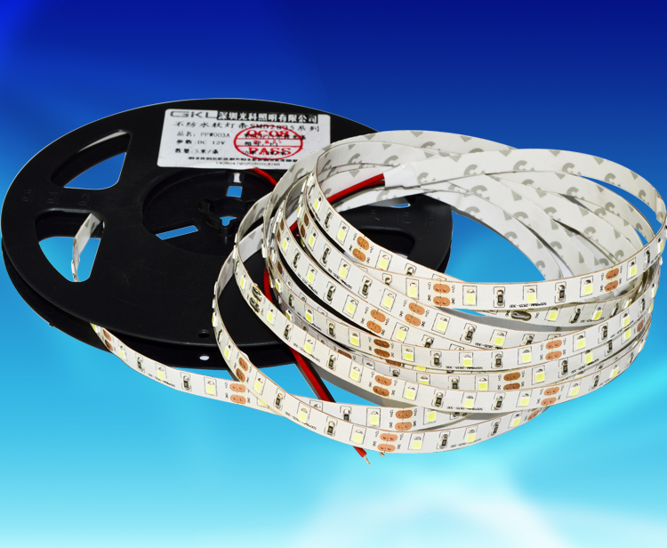 FFW009A,8*5000mm每米72粒2835貼片LED裸板不防水燈帶DC12V