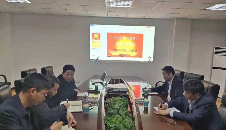 中材(宜昌)召開2020年度領導班子成員民主生活會