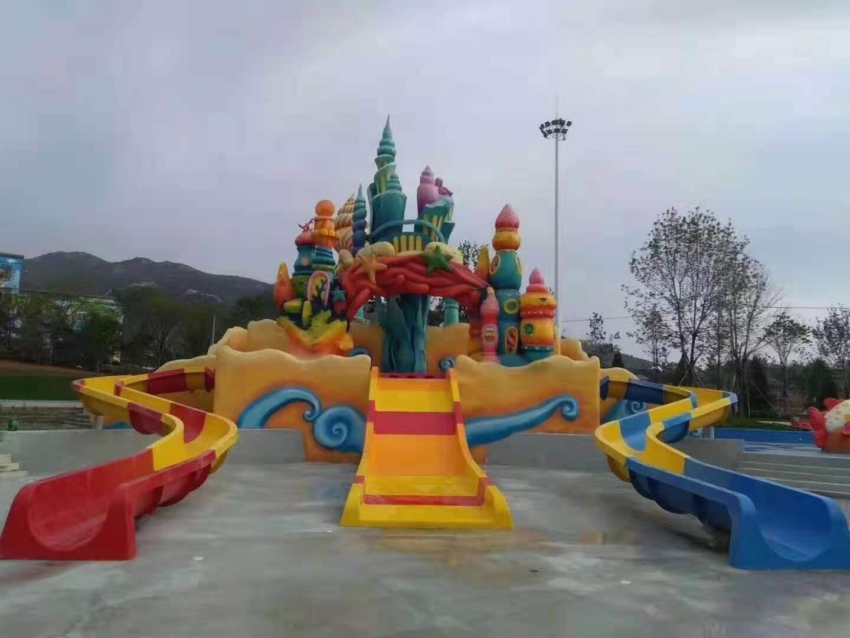 兒童螺旋滑梯與親子滑梯組合1