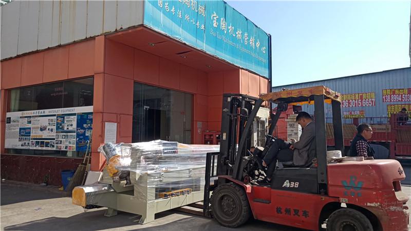 2021年1月巖板倒角機3200型發貨廣州白云