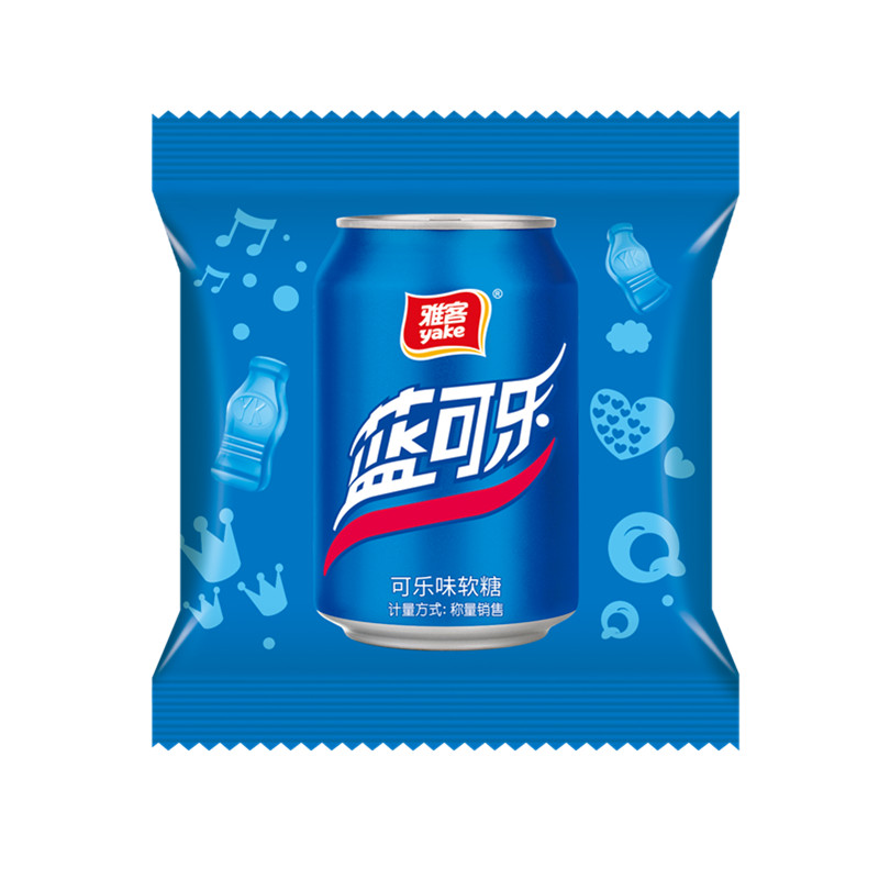 手抓包藍可樂軟糖
