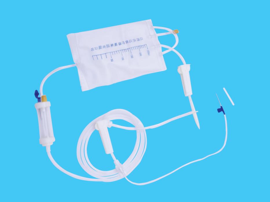 一次性使用自動止液精密過濾袋式輸液器