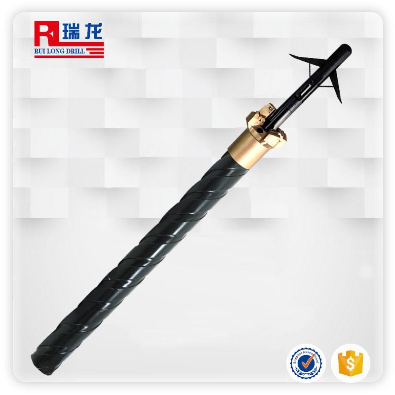 大通孔刻槽钻杆钻抽一体瓦斯排放装置