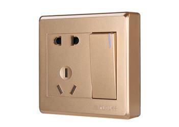 一位單控大板二三極插座