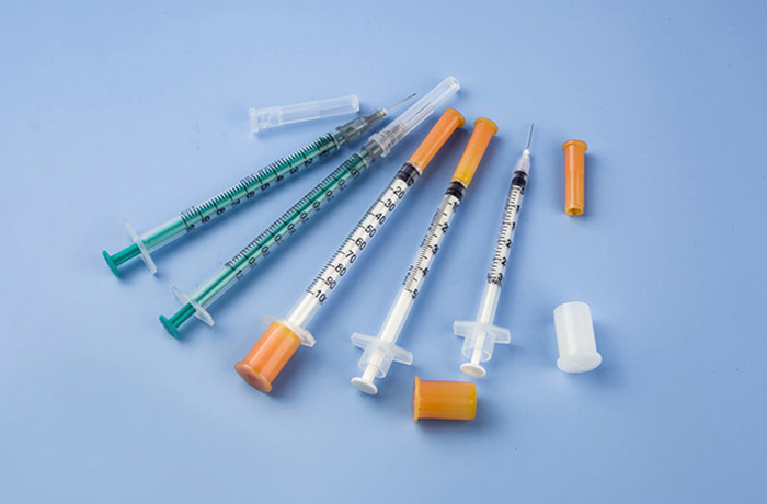 Single use tuberculosis syringe