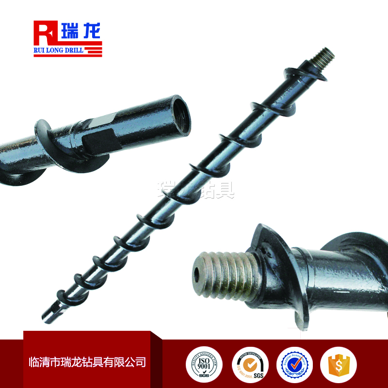 φ70-42mm锥丝连接地质螺旋钻杆瑞龙钻具