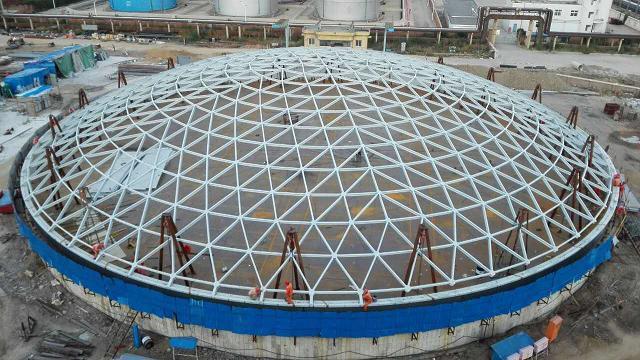 錦西石化60m鋼網殼