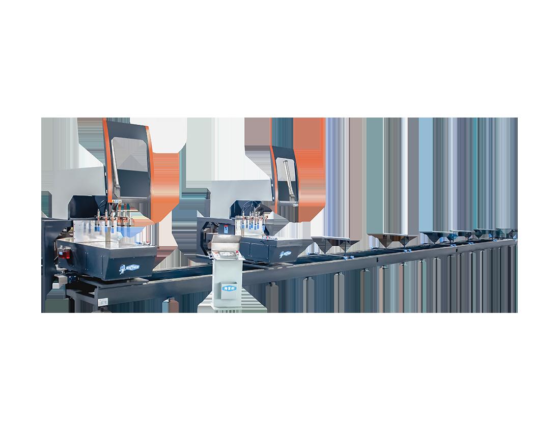 重型三軸數控多角度工業雙頭鋸