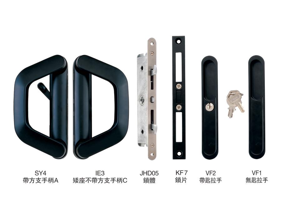 CW90-15 帶匙雙雙單推拉對接鎖