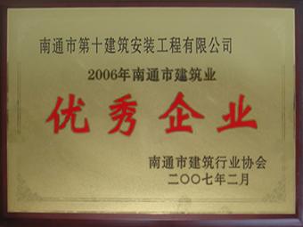 2006年南通市建筑業優秀企業