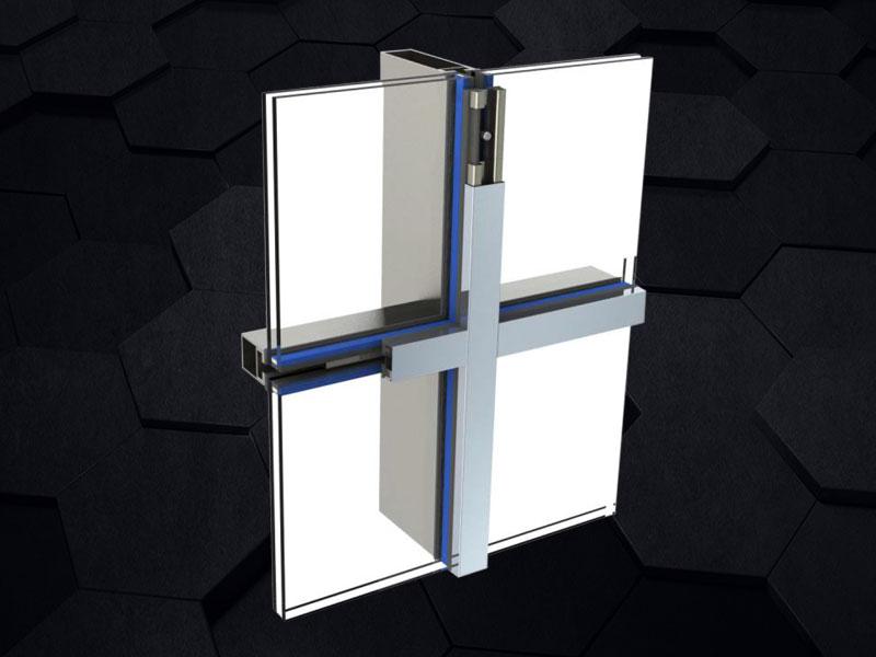 GMQ-38G极纤细断桥钢幕墙系统