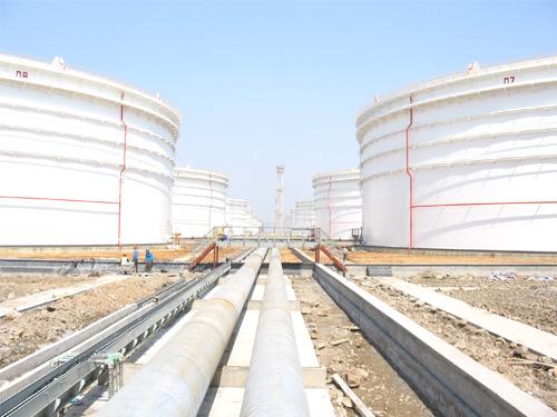 天津商儲庫8臺10萬立油罐配套管線安裝工程