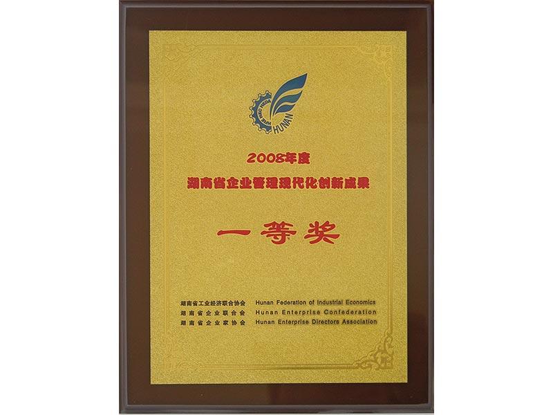 2008年湖南省企業管理現代化創新成果一等獎