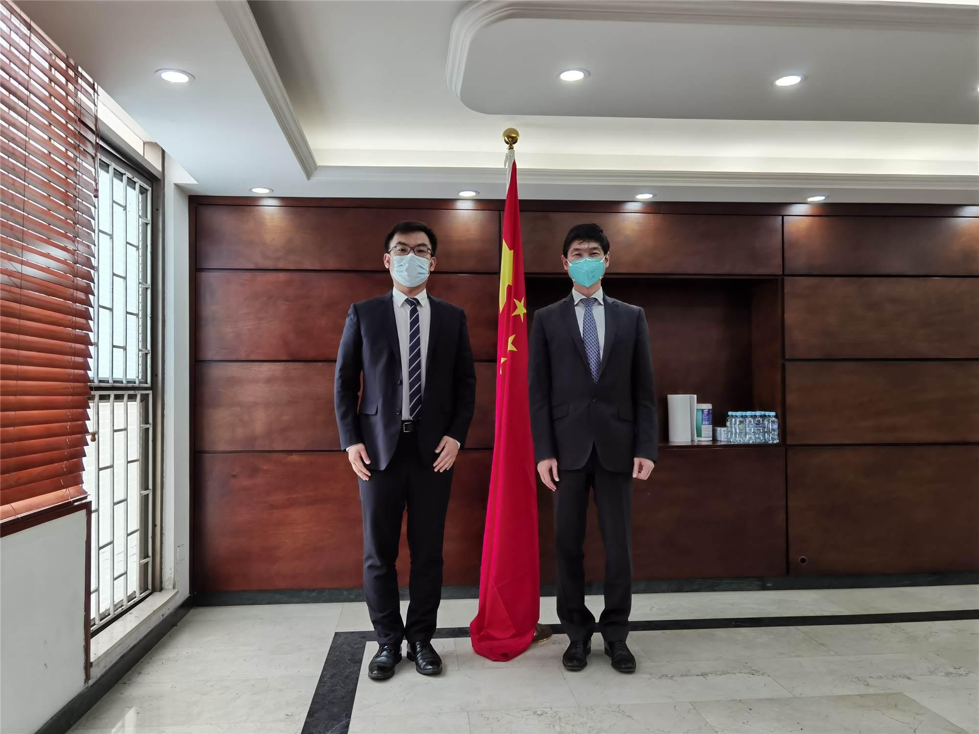 公司(CZICC)總經理李靜凱先生拜訪中國駐哥倫比亞大使館