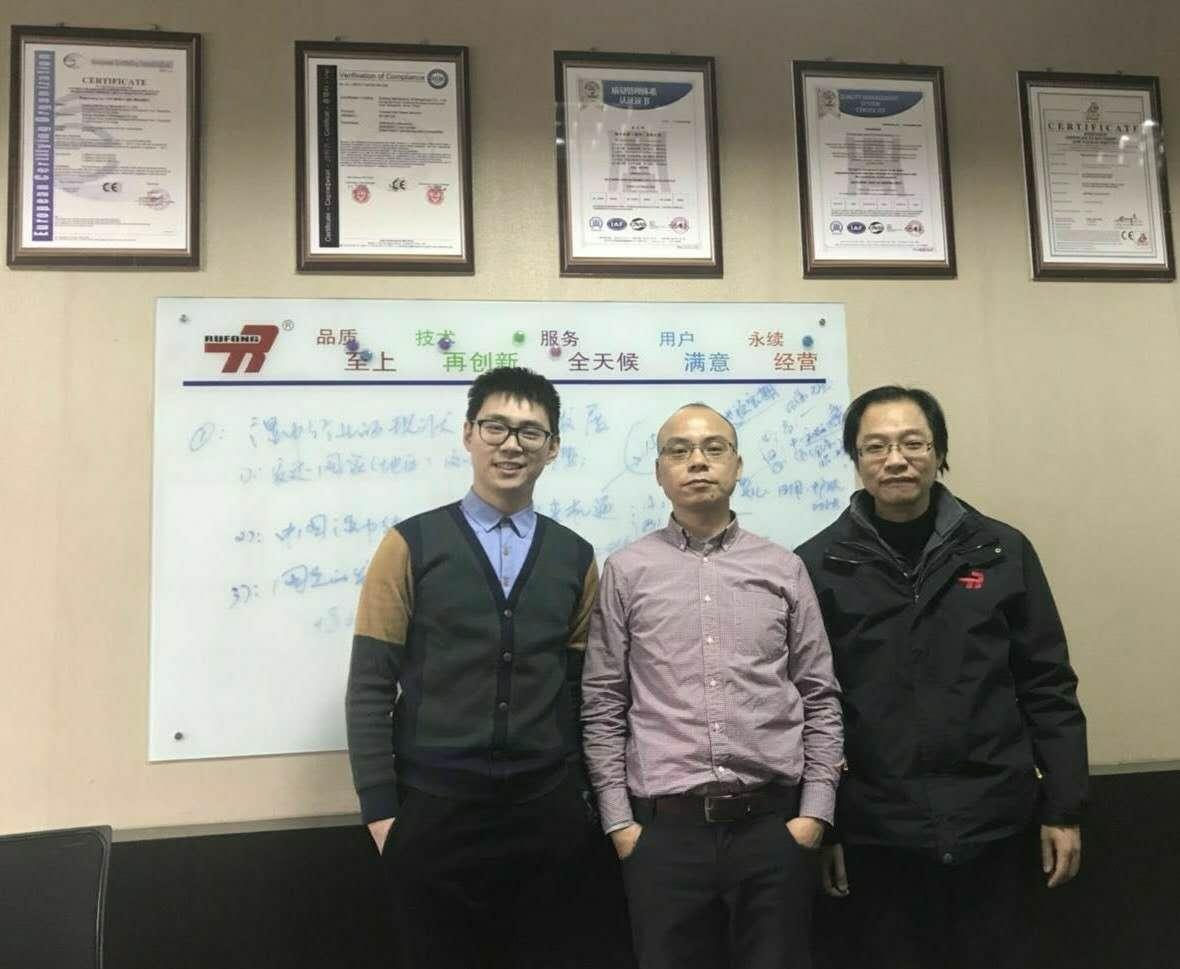 杭州國光客戶蒞臨陸豐機械參觀交流
