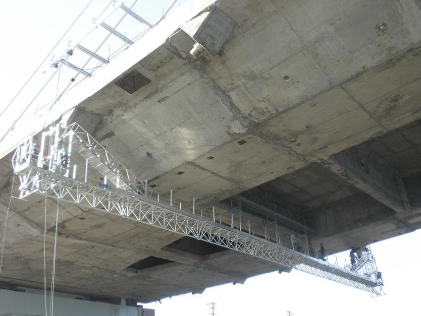 榮烏高速準格爾黃河特大橋涂裝工程吊藍施工