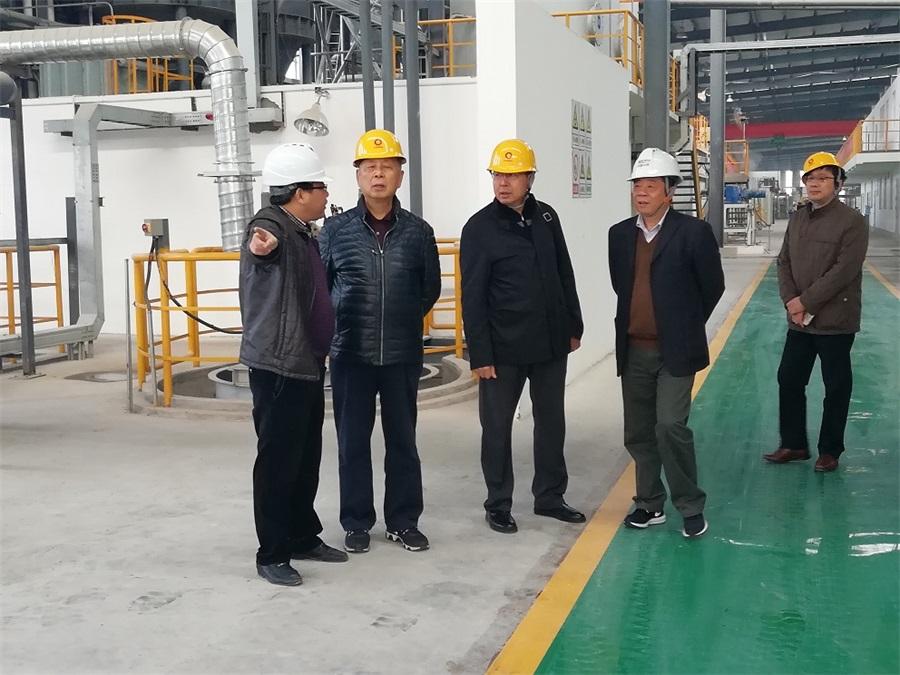 中國建材聯合會名譽會長張人為到中材(宜昌)節能新材料有限公司當陽新型多功能節能環保墻體材料產業基地項目調研