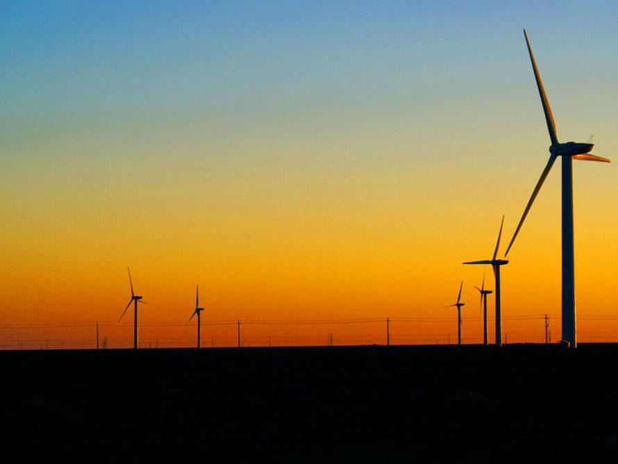 内蒙古锡林格勒风力发电