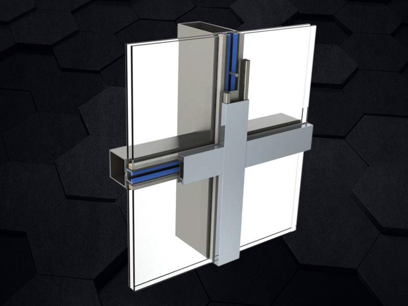 GMQ-60E窄框断桥钢幕墙系统