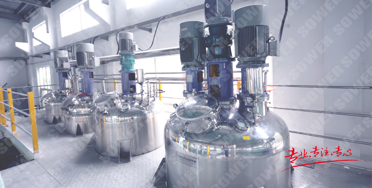 Stirring equipment for the kettle