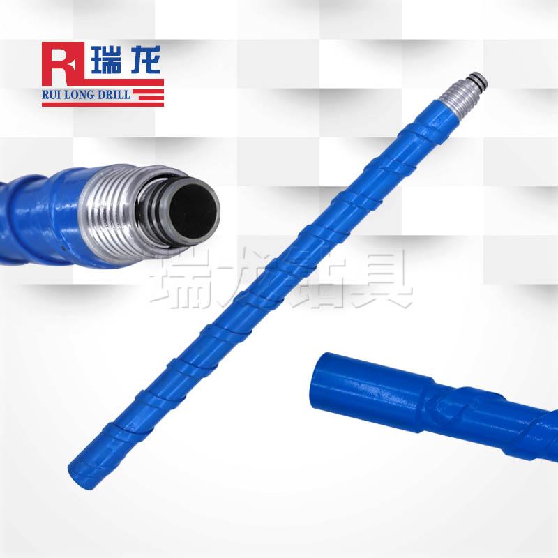 73双壁螺旋取样钻杆  反循环粉尘定点取样钻杆 瑞龙钻具