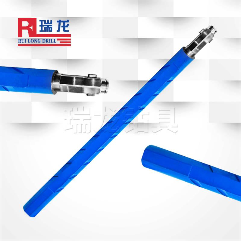 异型多棱刻槽推力排渣钻杆 双销快接抗拉型刻槽钻杆——瑞龙钻具