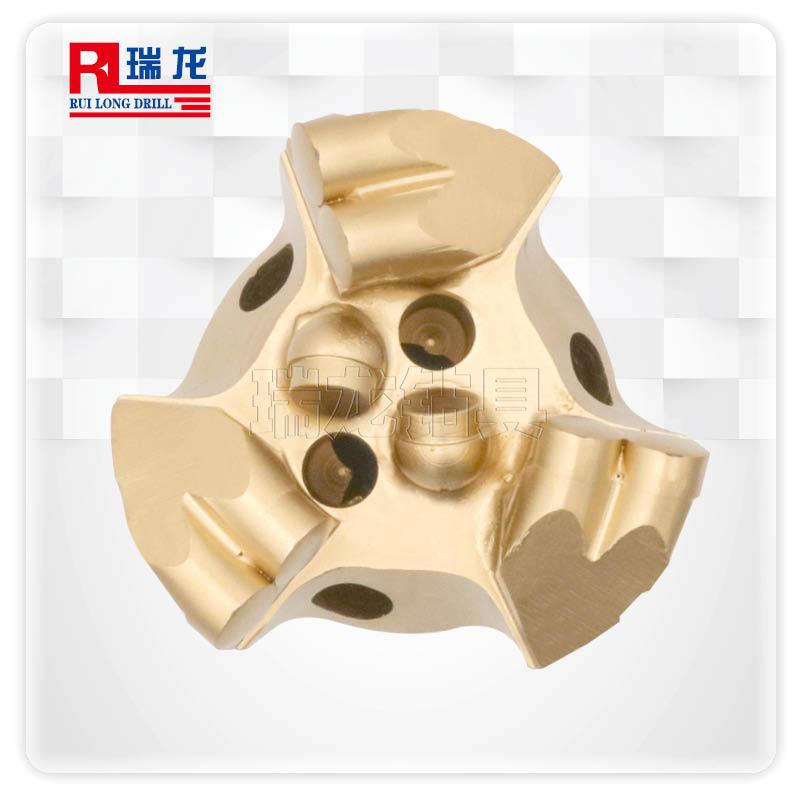 供应PDC内凹三翼复合片钻头 加强金刚石复合片无芯钻头